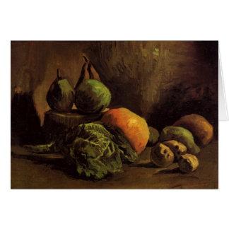 Stillleben mit Gemüse und Frucht durch Van Gogh Karte