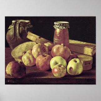 Stillleben mit Granatäpfeln Poster