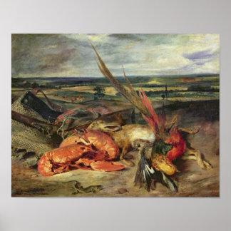 Stillleben mit Hummern, 1826-27 Poster