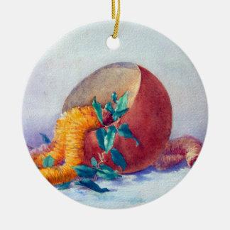 Stillleben mit Ilima Leu und Kokosnuss Keramik Ornament