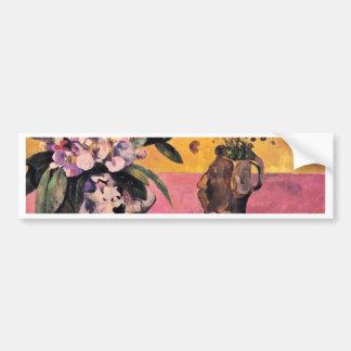 Stillleben mit Japaner Woodblock durch Gauguin Autoaufkleber