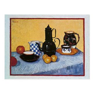Stillleben mit Kaffee-Topf durch Vincent van Gogh Postkarte