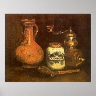 Stillleben mit Kaffeemühle durch Vincent van Gogh Poster