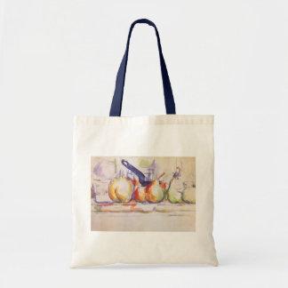 Stillleben mit Kasserolle durch Paul Cezanne Tragetasche