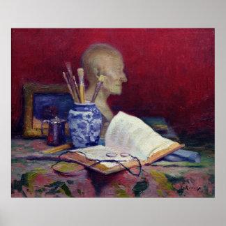 Stillleben mit Kopf von Voltaire Poster