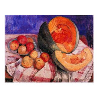 Stillleben mit Melone durch Paula Modersohn-Becker Postkarte