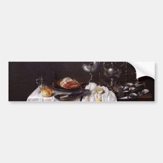 Stillleben mit Nautilus-Schale durch Willem Heda Autoaufkleber