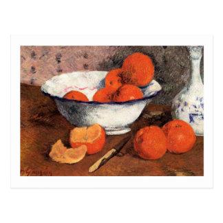 Stillleben mit Orangen durch Gauguin Postkarte