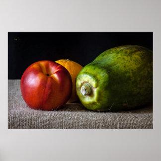 Stillleben mit Papaya Posterdrucke