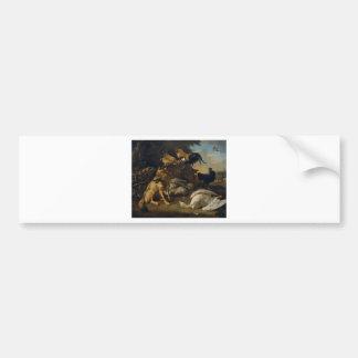 Stillleben mit Tieren durch Melchior d'Hondecoeter Autoaufkleber