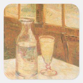 Stillleben mit Wermut durch Vincent van Gogh Quadratischer Aufkleber