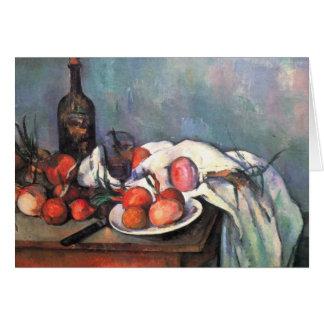 Stillleben mit Zwiebeln - Paul Cézanne Karte