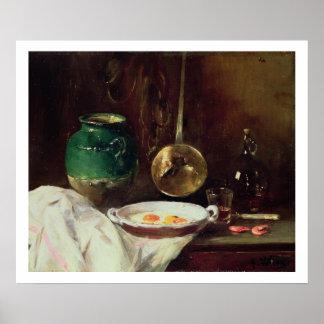 Stillleben (Öl auf Platte) 2 Poster