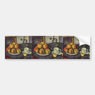 Stillleben Pauls Cezanne- mit Äpfeln Autosticker