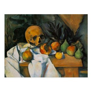Stillleben Pauls Cezanne- mit dem Schädel Postkarte