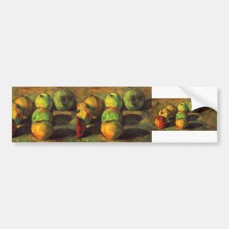 Stillleben Pauls Cezanne- mit sieben Äpfeln Auto Aufkleber