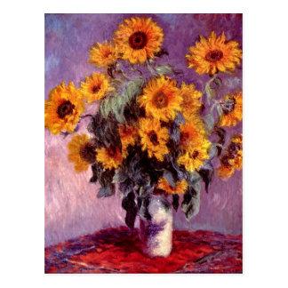 Stillleben: Sonnenblumen durch Claude Monet Postkarte