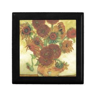 Stillleben: Sonnenblumen Geschenkbox