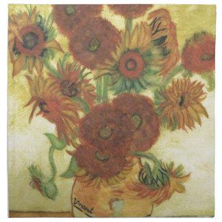 Stillleben: Sonnenblumen Serviette