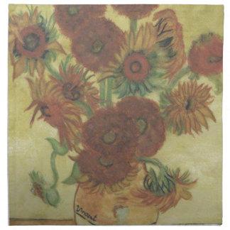 Stillleben: Sonnenblumen Stoffserviette