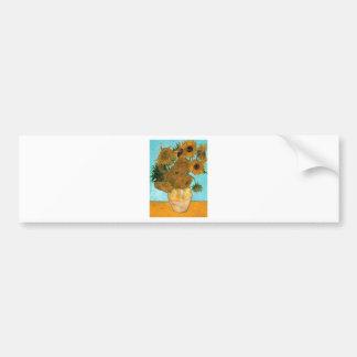 Stillleben: Sonnenblumen - Vincent van Gogh Autoaufkleber