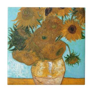 Stillleben: Sonnenblumen - Vincent van Gogh Fliese
