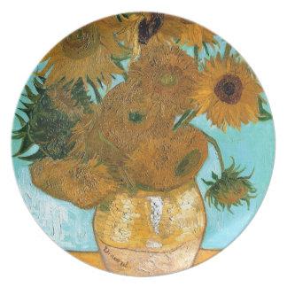 Stillleben: Sonnenblumen - Vincent van Gogh Melaminteller