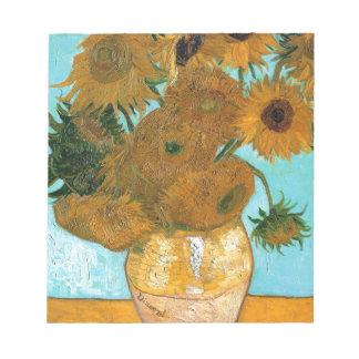 Stillleben: Sonnenblumen - Vincent van Gogh Notizblock