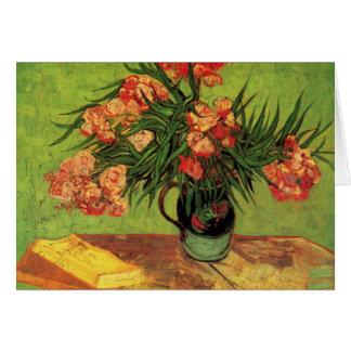 Stillleben-Vase mit Oleandern und Büchern - Van Karte
