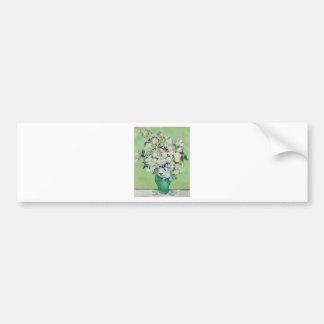 Stillleben: Vase mit Rosen - Vincent van Gogh Autoaufkleber