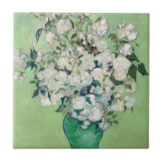 Stillleben: Vase mit Rosen - Vincent van Gogh Keramikfliese