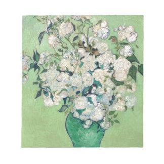 Stillleben: Vase mit Rosen - Vincent van Gogh Notizblock