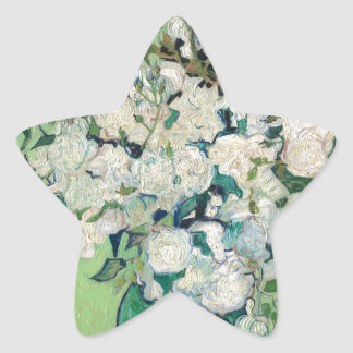 Stillleben: Vase mit Rosen - Vincent van Gogh Stern-Aufkleber
