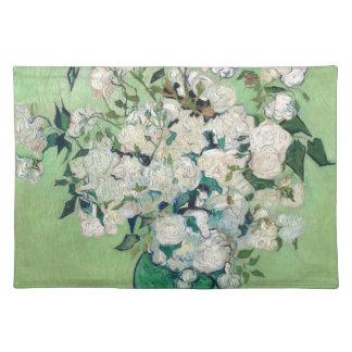 Stillleben: Vase mit Rosen - Vincent van Gogh Tischset