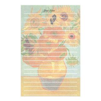 Stillleben - Vase mit zwölf Sonnenblumen, Van Gogh Briefpapier