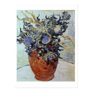 Stillleben Vincent van Goghs   mit Disteln, 1890 Postkarte