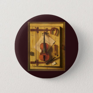 Stillleben-Violine und Musik durch William Harnett Runder Button 5,7 Cm