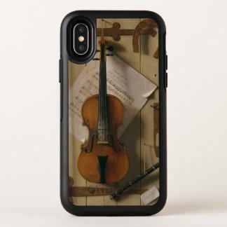 Stillleben, Violine und Musik OtterBox Symmetry iPhone X Hülle