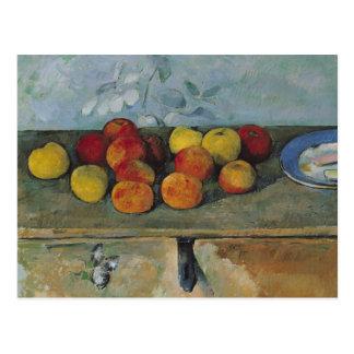 Stillleben von Äpfeln und von Keksen, 1880-82 Postkarte