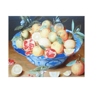 Stillleben-Zitronen-Orangen-Granatapfel-Flamen Leinwanddruck