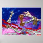 Stillstand gespielt durch tote Hände Poster