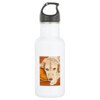 Stillstehender Labrador Edelstahlflasche