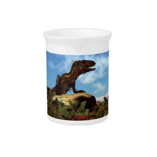 Stillstehender Nanotyrannus Dinosaurier - 3D Getränke Pitcher