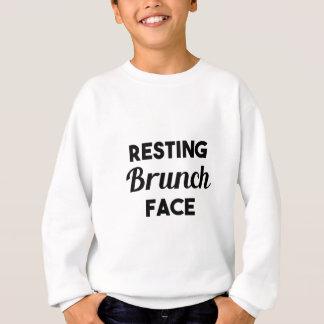 Stillstehendes Brunch-Gesicht Sweatshirt