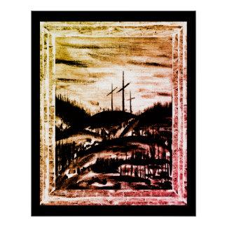 Stillstehendes Kreuz Poster