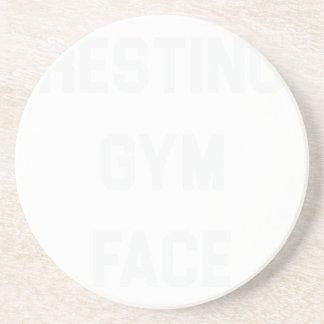 Stillstehendes Turnhallen-Gesicht Untersetzer