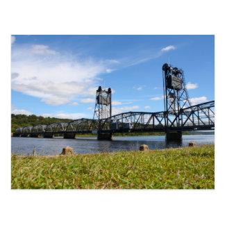Stillwater Aufzug-Brücke und Rasen Postkarte