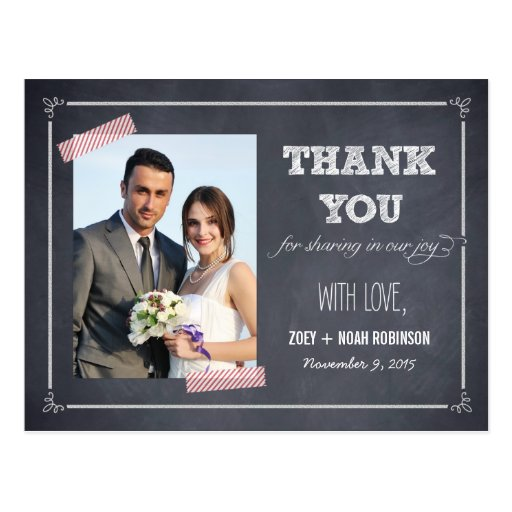 Stilvoll geweißte Hochzeit danken Ihnen zu kardier Postkarte