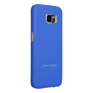 Stilvolle blaue Samsung Galaxieabdeckung James