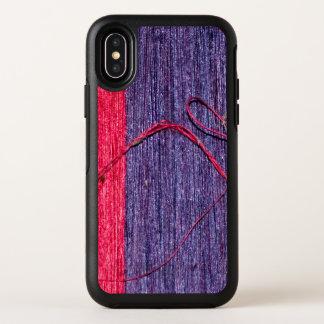 Stilvolle blaue und rote frische handgemachte OtterBox symmetry iPhone x hülle